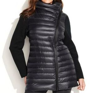 Calvin Klein Black Rib Knit Puffer Down Jacket